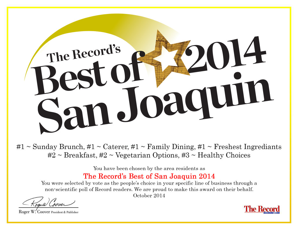 best of san joaquin 2014 certificate